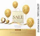 stylish sale poster with a... | Shutterstock .eps vector #589118639
