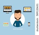 web design vector design | Shutterstock .eps vector #589120631