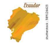 isolated map of ecuador on a... | Shutterstock .eps vector #589126625