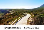 wooden pathway to cape of good... | Shutterstock . vector #589128461
