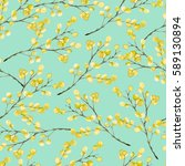 seamless pattern with yellow...   Shutterstock . vector #589130894