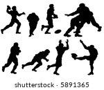 football   vector silhouette | Shutterstock .eps vector #5891365