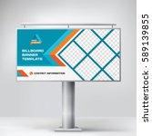 billboard design  blue... | Shutterstock .eps vector #589139855