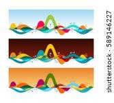 tropical horizons   set of... | Shutterstock .eps vector #589146227