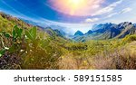 masca valley.canary island... | Shutterstock . vector #589151585