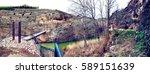 nature scenery medieval bridge... | Shutterstock . vector #589151639