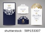set of wedding invitation... | Shutterstock .eps vector #589153307