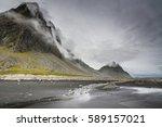 Dramatic Stokksnes  Mountains...