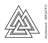 valknut symbol of the world end ... | Shutterstock .eps vector #589167971