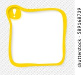 yellow frame for your text and... | Shutterstock .eps vector #589168739