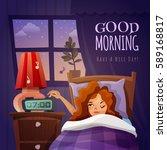 good morning design composition ... | Shutterstock .eps vector #589168817