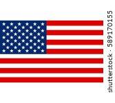 american flag vector... | Shutterstock .eps vector #589170155