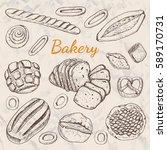 hand drawn vintage vector... | Shutterstock .eps vector #589170731