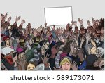 illustration of protesting... | Shutterstock .eps vector #589173071