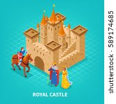 Colored Royal Castle Isometric...