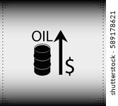 oil price up icon. | Shutterstock .eps vector #589178621