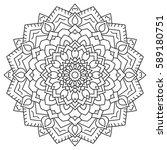 circular geometric ornament.... | Shutterstock .eps vector #589180751