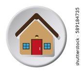 circular button facade house... | Shutterstock .eps vector #589184735