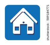 square button facade house icon ... | Shutterstock .eps vector #589184771