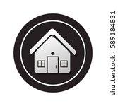monochrome circular button... | Shutterstock .eps vector #589184831