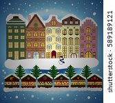 holidays vector illustration.... | Shutterstock .eps vector #589189121