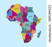 map of africa. vector... | Shutterstock .eps vector #589189421