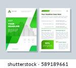 annual report  broshure  flyer  ... | Shutterstock .eps vector #589189661