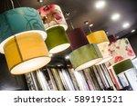 The Green Fabric Lampshade At...
