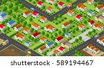 country village district... | Shutterstock .eps vector #589194467