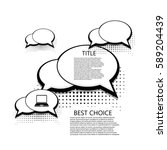 vector modern halftone bubble... | Shutterstock .eps vector #589204439