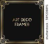 vintage retro style invitation  ... | Shutterstock .eps vector #589208891