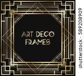 vintage retro style invitation  ... | Shutterstock .eps vector #589208909