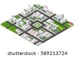 isometric plant in 3d... | Shutterstock .eps vector #589213724