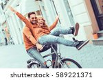 young couple having fun in the... | Shutterstock . vector #589221371