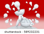 brain exposed character with...   Shutterstock . vector #589232231