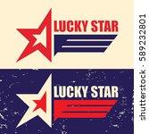 logo lucky star. vector... | Shutterstock .eps vector #589232801