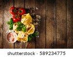 tasty fresh colorful... | Shutterstock . vector #589234775