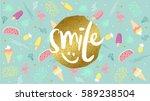 smile spring  summer fashion... | Shutterstock .eps vector #589238504