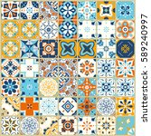 seamless pattern with with... | Shutterstock .eps vector #589240997