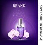 serum essence orchid flower... | Shutterstock .eps vector #589241297
