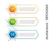 infographic hexagon shape... | Shutterstock .eps vector #589242065