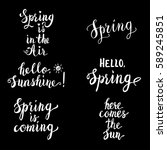 spring lettering set isolated... | Shutterstock .eps vector #589245851