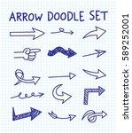 set of arrow doodle | Shutterstock . vector #589252001