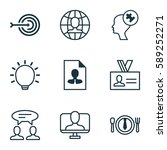 set of 9 business management... | Shutterstock .eps vector #589252271