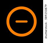 minus sign in circle icon. zoom ... | Shutterstock .eps vector #589253879