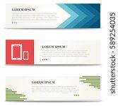 business banners. brochure.... | Shutterstock .eps vector #589254035