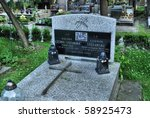 Small photo of CRACOW - JUNE 9: Tomb of the famous pianist Halina Czerny Stefanska, Rakowicki cemetery in Cracow on June 9, 2010 in Cracow. Poland