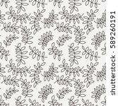seamless pattern from leaves... | Shutterstock .eps vector #589260191