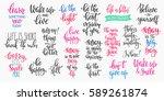 lettering photography overlay... | Shutterstock .eps vector #589261874