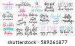 lettering photography overlay... | Shutterstock .eps vector #589261877